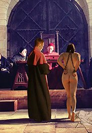 Showing the clergymen their pink cunts - Witch hunt by Damian art