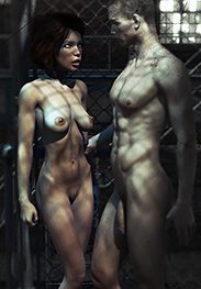 The ladder - The cruel leather straps bit deep into her naked buttocks by Agan Medon
