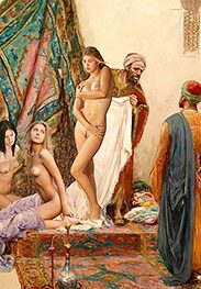 I'll have her chained up - Slavegirls in an oriental world by Damian art