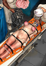 She tried to moan in discomfort - Nurse nightmare by Turk